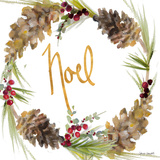 Gold Christmas Wreath III Posters by Lanie Loreth
