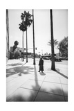 Los Angelas Miricle Mile Walker 2 Photographic Print by Henri Silberman