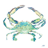 Sea Life in Blues II (crab) Prints by Julie DeRice