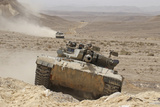 A Merkava Iii Main Battle Tank in the Negev Desert, Israel Photographic Print by  Stocktrek Images