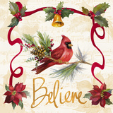 Christmas Poinsettia Ribbon I Art par Lanie Loreth