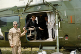 Presideent John F. Kennedy Sitting Inside Helicopter Photographic Print by  Stocktrek Images