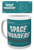Space Invaders - Diagram Mug Tazza