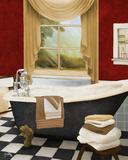 Red French Bath II Posters by Elizabeth Medley