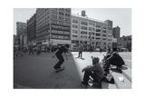 Union Square Skateboarders Photographic Print by Henri Silberman