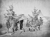 Camp Scene During the American Civil War Photographic Print by  Stocktrek Images