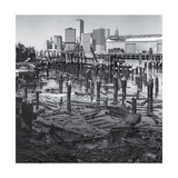 Brooklyn Snowy Pilings Manhattan Photographic Print by Henri Silberman