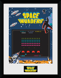 Space Invaders Screen Samletrykk