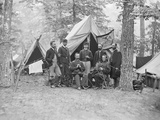 Officers from the 16th Pennsylvania Cavalry During the American Civil War Photographic Print by  Stocktrek Images