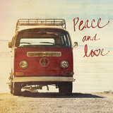 Peace and Love Print by Gail Peck