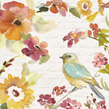 Floral Bird Script I Posters by Lanie Loreth