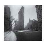 Flatiron District Snow Photographic Print by Henri Silberman