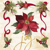 Lanie Loreth - Christmas Poinsettia Ribbon IV - Reprodüksiyon