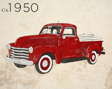 Vintage Pick-Up Prints by Sd Graphics Studio