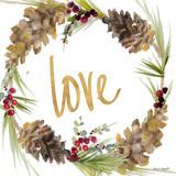 Gold Christmas Wreath I Prints by Lanie Loreth