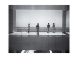 Getty Museum Visitors Photographic Print by Henri Silberman