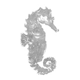 Silver Seahorse Square I Prints by Julie DeRice
