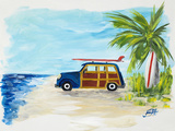 Tropical Vacation I Print by Julie DeRice