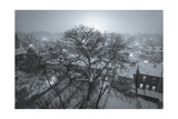 Brooklyn Snowy Evening Blue Photographic Print by Henri Silberman