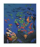 The King of the Sea (Elvis) Serigraph by Doug Auld
