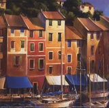 Portofino Waterfront Print by Michael O'Toole