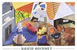 Large Interior, Los Angeles Samlertryk af David Hockney