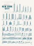 Splendid Structures of New York City Art by  Pop Chart Lab