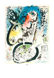 Chagall Lithographe Tome I - Frontispice Collectable Print by Marc Chagall