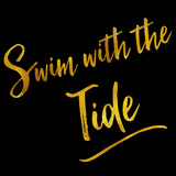 Swim with the Tide Gold Faux Foil Metallic Glitter Quote Prints by  silverspiralarts