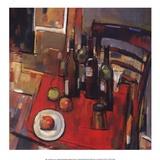 Vino tinto Lámina por Jay Li