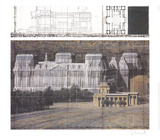 Wrapped Reichstag Collectable Print by Javacheff Christo