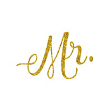 Mr. Wedding Engagement Gold Faux Foil Glitter Metallic Quote Iso Prints by  silverspiralarts