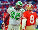 Reggie White 1992 Action Photo