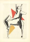 Le Cavalier sur un fond gris Collectable Print by Marino Marini