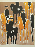 Le Cadre Noir Collectable Print by Andre Brasilier