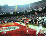 "Dwight Clark after making ""The Catch"" with 51 seconds left during the1981 NFC Championship Game Photo"