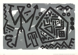 Space of the Eagle Serigraph by A.R. Penck