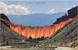 The Valley Curtain Limited Edition by Javacheff Christo