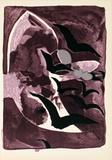 Les Oiseaux de Nuit Samlertryk af Georges Braque