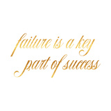 Failure Success Quote Gold Faux Foil Inspirational Quotes Posters by  silverspiralarts