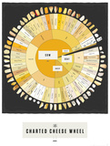The Charted Cheese Wheel Prints by  Pop Chart Lab