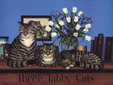 Three Tabby Cats Posters by Susan Powers
