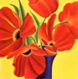 Sunny Tulips Prints by Sarah Horsfall