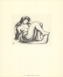 Nude on Sofa Collectable Print by Aristide Maillol