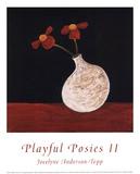 Playful Posies II Poster by Jocelyne Anderson-Tapp