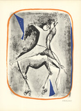 Cavalier et Cheval Collectable Print by Marino Marini