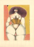 Femme sur fond Jaune Collectable Print by Richard Lindner