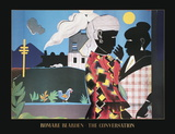 The Conversation Collectable Print by Romare Bearden