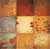 Don Li-Leger - Poppy Nine Patch Obrazy