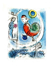 Le Coq sur Paris Collectable Print by Marc Chagall
